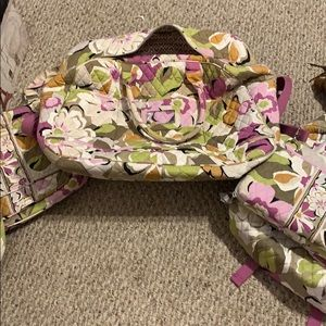Hugeeee Vera Bradley luggage and purse set!!!